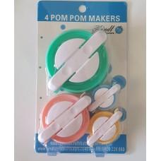 Pompom maker set of 4