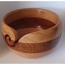 Yarn bowl solid wood